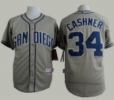 San Diego Padres #34 Andrew Cashner Grey Cool Base Stitched MLB Jersey