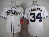 San Diego Padres #34 Andrew Cashner White Cool Base Stitched MLB Jersey