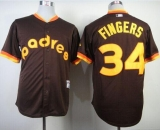 San Diego Padres #34 Rollie Fingers Coffee 1984 Turn Back The Clock Stitched MLB Jersey