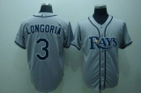 Tampa Bay Rays #3 Evan Longoria Grey Stitched MLB Jersey