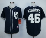 San Diego Padres #46 Craig Kimbrel Dark Blue Alternate 1 Cool Base Stitched MLB Jersey