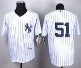 New York Yankees #51 Bernie Williams White Cool Base Stitched MLB Jersey