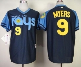 Tampa Bay Rays #9 Wil Myers Dark Blue 1970\'s Turn Back The Clock Stitched MLB Jersey