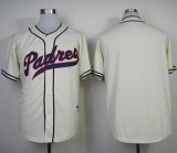 San Diego Padres Blank Cream 1948 Turn Back The Clock Stitched MLB Jersey