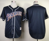 San Diego Padres Blank Navy Blue 1998 Turn Back The Clock Stitched MLB Jersey