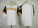 San Diego Padres Blank White 1978 Turn Back The Clock Stitched MLB Jersey