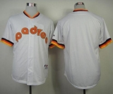 San Diego Padres Blank White 1984 Turn Back The Clock Stitched MLB Jersey
