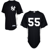 New York Yankees #55 Russell Martin Black Stitched MLB Jersey