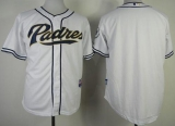 San Diego Padres Blank White Cool Base Stitched MLB Jersey