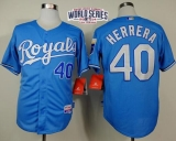 Kansas City Royals #40 Kelvin Herrera Light Blue Alternate Cool Base W 2014 World Series Patch Stitched MLB Jersey