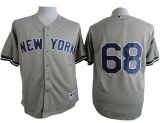 New York Yankees #68 Dellin Betances Grey Cool Base Stitched MLB Jersey