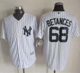 New York Yankees #68 Dellin Betances New White Strip Cool Base Stitched MLB Jersey