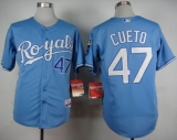 Kansas City Royals #47 Johnny Cueto Light Blue Alternate 1 Cool Base Stitched MLB Jersey