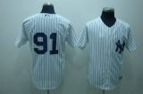 New York Yankees #91 Alfredo Aceves Stitched White MLB Jersey