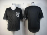 New York Yankees Blank Black Fashion Stitched MLB Jersey