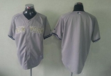 New York Yankees Blank Grey USMC Cool Base Stitched MLB Jersey