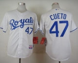 Kansas City Royals #47 Johnny Cueto White Cool Base Stitched MLB Jersey
