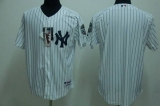 New York Yankees Blank Stitched White MLB Jersey