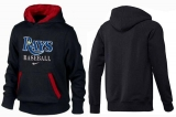 Tampa Bay Rays Pullover Hoodie Black & Red