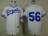 Kansas City Royals #56 Greg Holland White 1974 Turn Back The Clock Stitched MLB Jersey
