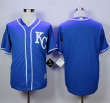 Kansas City Royals Blank Blue Alternate 2 New Cool Base Stitched MLB Jersey