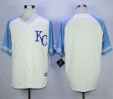 Kansas City Royals Blank Cream Exclusive Vintage Stitched MLB Jersey