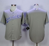 Kansas City Royals Blank Grey New Cool Base Stitched MLB Jersey