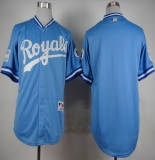 Kansas City Royals Blank Light Blue 1985 Turn Back The Clock Stitched MLB Jersey