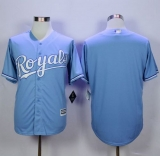 Kansas City Royals Blank Light Blue Alternate 1 New Cool Base Stitched MLB Jersey