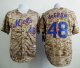 New York Mets #48 Jacob DeGrom Camo Alternate Cool Base Stitched MLB Jersey