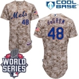 New York Mets #48 Jacob DeGrom Camo Alternate Cool Base W 2015 World Series Patch Stitched MLB Jersey