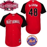 New York Mets #48 Jacob DeGrom Red 2015 All-Star National League Stitched MLB Jersey