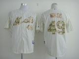 New York Mets #49 Jon Niese Cream Blue Strip  USMC Cool Base Stitched MLB Jersey