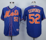 New York Mets #52 Yoenis Cespedes Blue Alternate Home Cool Base Stitched MLB Jersey