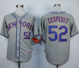 New York Mets #52 Yoenis Cespedes Grey Road Cool Base Stitched MLB Jersey