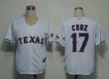 Texas Rangers #17 Nelson Cruz White Stitched Cool Base MLB Jersey