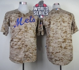 New York Mets Blank Camo Alternate Cool Base W 2015 World Series Patch Stitched MLB Jersey