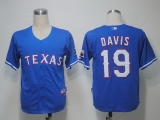 Texas Rangers #19 Chris Davis Blue Cool Base Stitched MLB Jersey