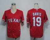Texas Rangers #19 Chris Davis Red Cool Base Stitched MLB Jersey