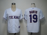 Texas Rangers #19 Chris Davis White Cool Base Stitched MLB Jersey