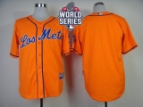 New York Mets Blank Orange Los New York Mets Cool Base W 2015 World Series Patch Stitched MLB Jersey