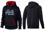 New York Mets Pullover Hoodie Black & Red