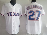 Texas Rangers #27 Vladimir Guerrero Stitched White MLB Jersey