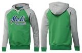 New York Mets Pullover Hoodie Green & Grey