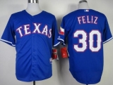 Texas Rangers #30 Naftali Feliz Stitched MLB Blue Cool Base Jersey