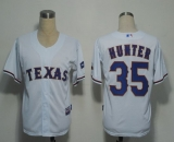 Texas Rangers #35 Tommy Hunter White Cool Base Stitched MLB Jersey