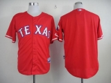 Texas Rangers Blank Red 40th Anniversary Patch Stitched MLB Jersey