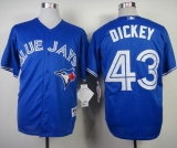 Toronto Blue Jays #43 R A Dickey Blue Alternate Cool Base Stitched MLB Jersey