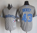 Toronto Blue Jays #43 R A Dickey Grey New Cool Base Stitched MLB Jersey