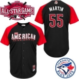 Toronto Blue Jays #55 Russell Martin Black 2015 All-Star American League Stitched MLB Jersey